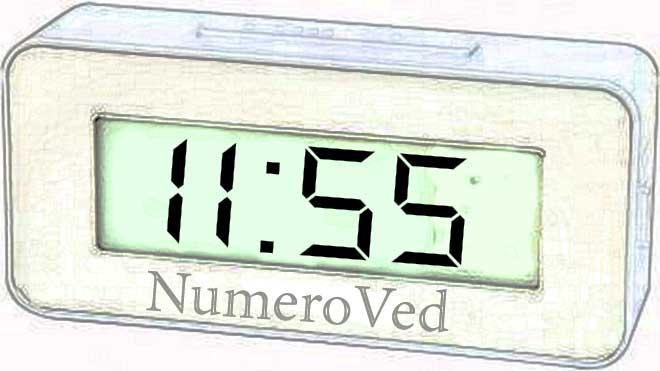 11 55 на часах значение